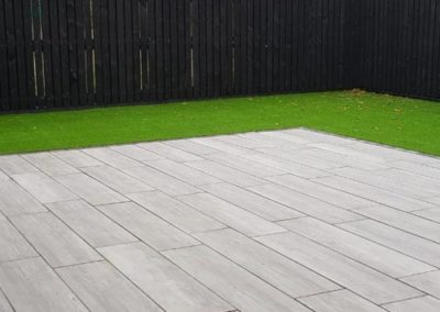 Landscaped Wooden Patio