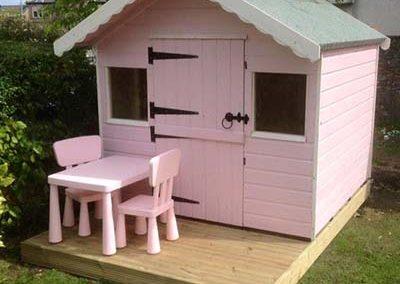 Pink Garden Play House with stable door