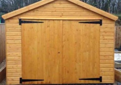 Garage Shed with gable roof