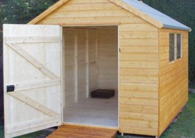 Garden Shed with gable roof and access ramp