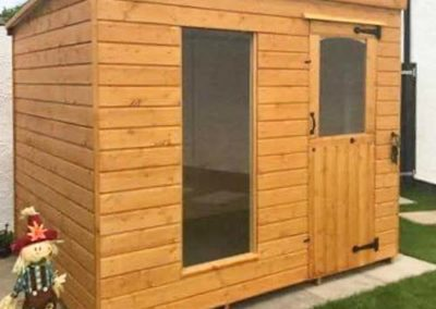 Small Shed with shed roof
