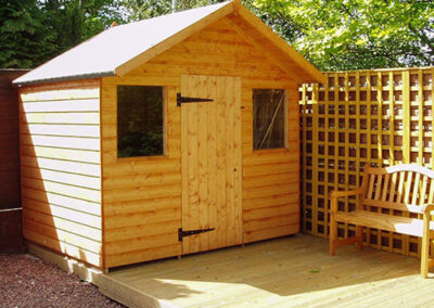 6x8 Garden Shed with 2 windows